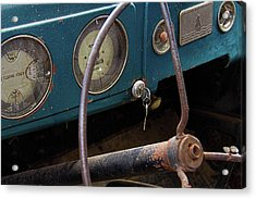 Rusty Plymouth Dashboard Acrylic Print