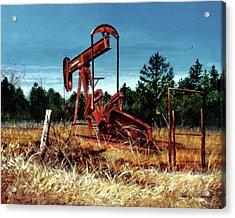 Rusty Pump Jack Acrylic Print