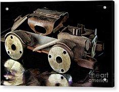 Rusty Rat Rod Toy Acrylic Print by Wilma Birdwell