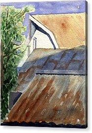 Rusty Roofs Acrylic Print by Jane Croteau