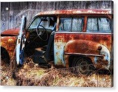 Rusty Station Wagon Acrylic Print