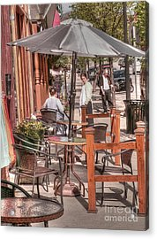 Rutland Street Cafe Acrylic Print