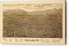 Antique Rutland, Vt. Acrylic Print
