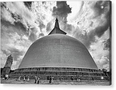 Acrylic Print featuring the photograph Ruwanwelisaya, Anuradhapura, 2012 by Hitendra SINKAR