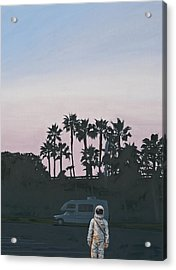 Acrylic Print featuring the painting Rv Dusk by Scott Listfield