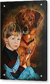 Ryan And Moses Acrylic Print