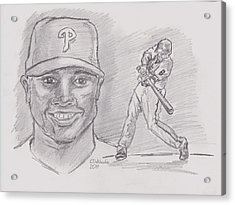 Ryan Howard The Big Piece Acrylic Print by Chris  DelVecchio