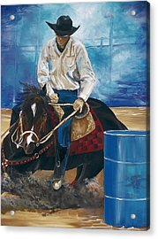 Acrylic Print featuring the painting Ryan Lovendahl by Patty Sjolin
