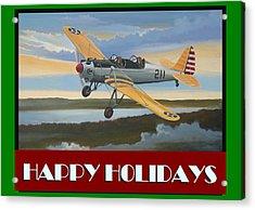 Ryan Pt-22 Happy Holidays Acrylic Print by Stuart Swartz