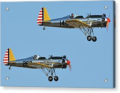 Ryan Pt-22 N48777 146 And Pt-22 N48742 269 Chino California April 29 2016 Acrylic Print by Brian Lockett