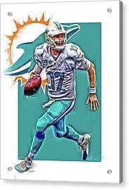 Ryan Tannehill Miami Dolphins Oil Art Acrylic Print