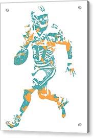 Ryan Tannehill Miami Dolphins Pixel Art 1 Acrylic Print