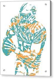 Ryan Tannehill Miami Dolphins Pixel Art 2 Acrylic Print