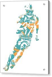 Ryan Tannehill Miami Dolphins Pixel Art 4 Acrylic Print