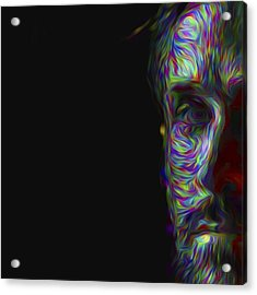 #ryangosling #gosling #male #actress Acrylic Print by David Haskett