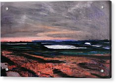 Rye Harbour Pastel 1 Acrylic Print by Paul Mitchell