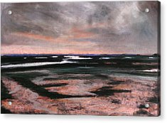 Rye Harbour Pastel 2 Acrylic Print by Paul Mitchell
