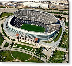 S-004 Soldier Field Close Up Chicago Illinois Acrylic Print by Bill Lang