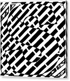 S Maze Acrylic Print by Yonatan Frimer Maze Artist
