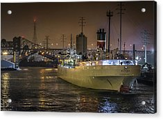 s/s Alpena at 95th St Bridge Port of Chicago Acrylic Print