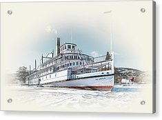 Acrylic Print featuring the photograph S. S. Sicamous II by John Poon
