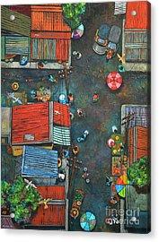 Sa Lumang Palengke Acrylic Print by Paul Hilario