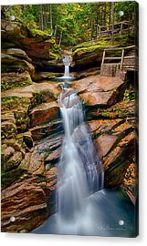 Sabbaday Falls 8896 Acrylic Print by Dan Beauvais