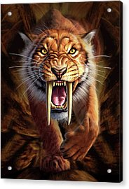 Sabertooth Acrylic Print by Jerry LoFaro