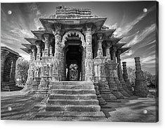 Acrylic Print featuring the photograph Sabhamandapa, Modhera, 2008 by Hitendra SINKAR