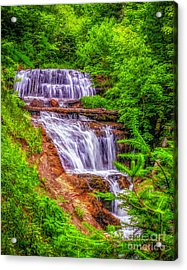 Acrylic Print featuring the photograph Sable Falls by Nick Zelinsky