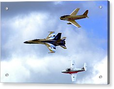Sabre, Hornet And Tutor Acrylic Print by Paul Wash