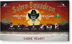 Sabre Squadron - Ond Acrylic Print by Unknown