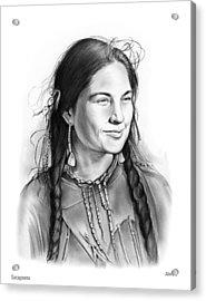 Sacagawea Acrylic Print by Greg Joens