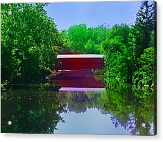 Sachs Covered Bridge - Gettysburg Pa Acrylic Print by Bill Cannon