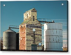 Saco Grain Elevator Acrylic Print by Todd Klassy