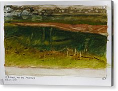 Saco River Maine Acrylic Print by Robert Bissett
