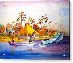 Sacraficio Acrylic Print by Buster Dight