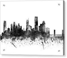 Sacramento California Cityscape 02bw Acrylic Print by Aged Pixel