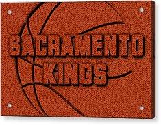 Sacramento Kings Leather Art Acrylic Print by Joe Hamilton