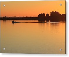 Sacramento River Sunrise Acrylic Print by Troy Montemayor