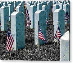 Sacramento Valley Veterans Cemetary Acrylic Print by Bill Gallagher