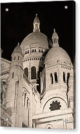 Sacre Coeur By Night IIi Acrylic Print by Fabrizio Ruggeri