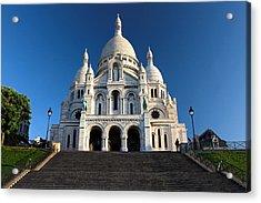 Sacre Coeur Montmartre Paris Acrylic Print by Pierre Leclerc Photography