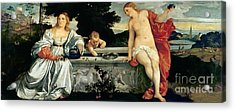 Sacred And Profane Love Acrylic Print by Titian
