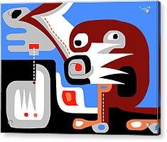 Sacred Cenote Acrylic Print by Victor  M Trejo