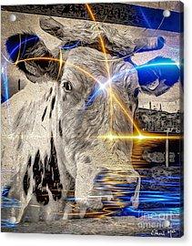 Acrylic Print featuring the digital art Sacred Cow by Eleni Mac Synodinos