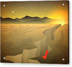 Sacred Desert Vista Acrylic Print by Milton Thompson