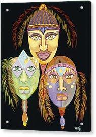 Sacred Feathers Acrylic Print