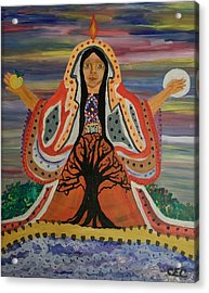 Acrylic Print featuring the painting Sacred Feminine by Carolyn Cable