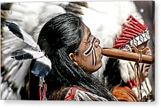 Sacred Flute Acrylic Print by Donovan Torres